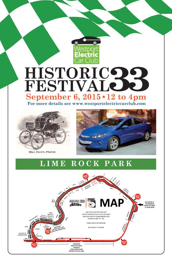 EV Club CT Poster for Lime Rock Gathering of the Marques
