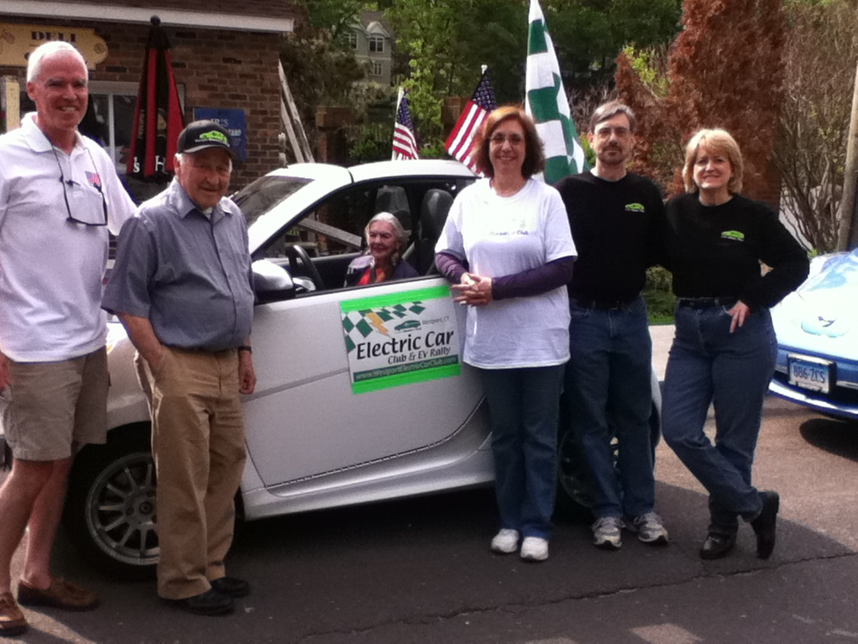Westport Electric Car Club at Memorial Day Parade