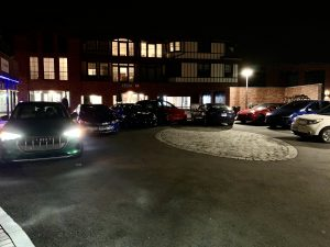 EVs parked outside club meeting