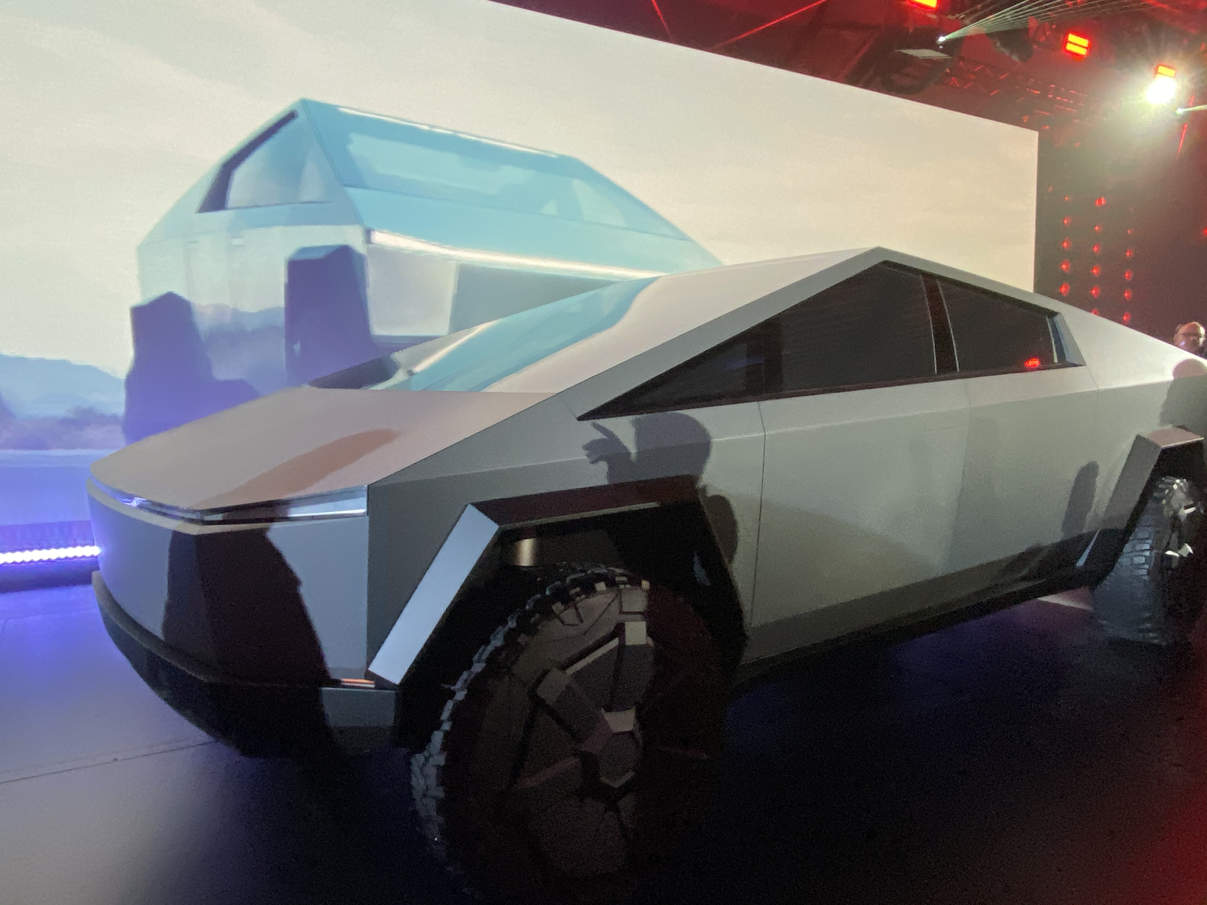 Tesla Cybertruck at the reveal event