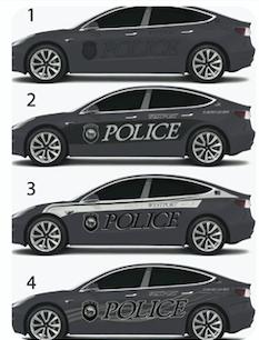 Tesla Model 3 Police Vehicle