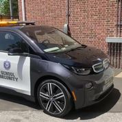 Westport Police BMW i3 donated by a member of EV Club of CT