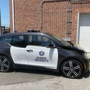 Customized Westport Police BMW i3 being used for school security