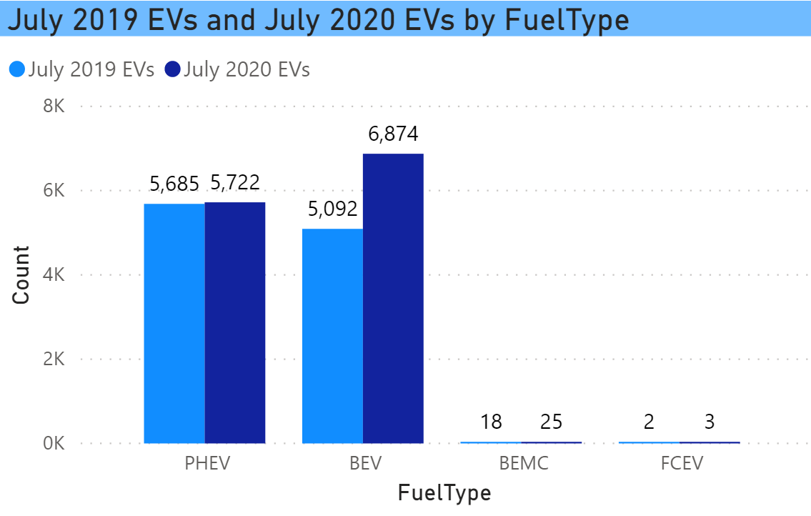 Year over year increase by fuel type