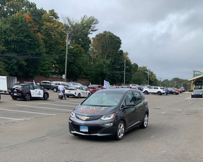 Chevy Bolt Decorated for the Parade