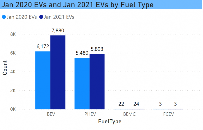 EV Growth by Fuel Type