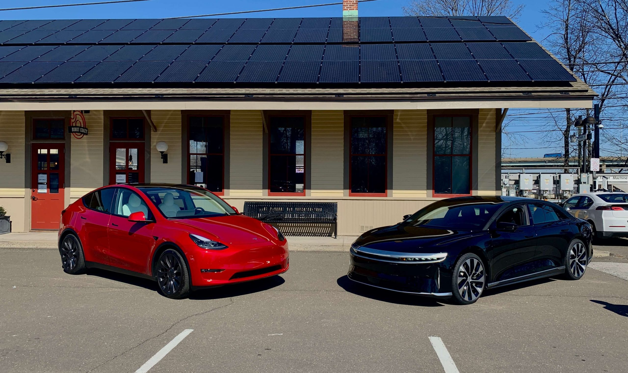 Model Y and Lucid Air