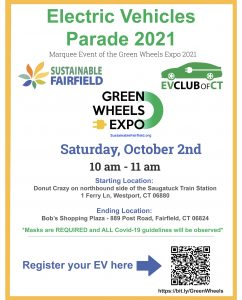 EV Parade and Green Wheels Expo, Westport and Fairfield
