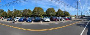 Cars parked before the EV parade - EV C;lub CT